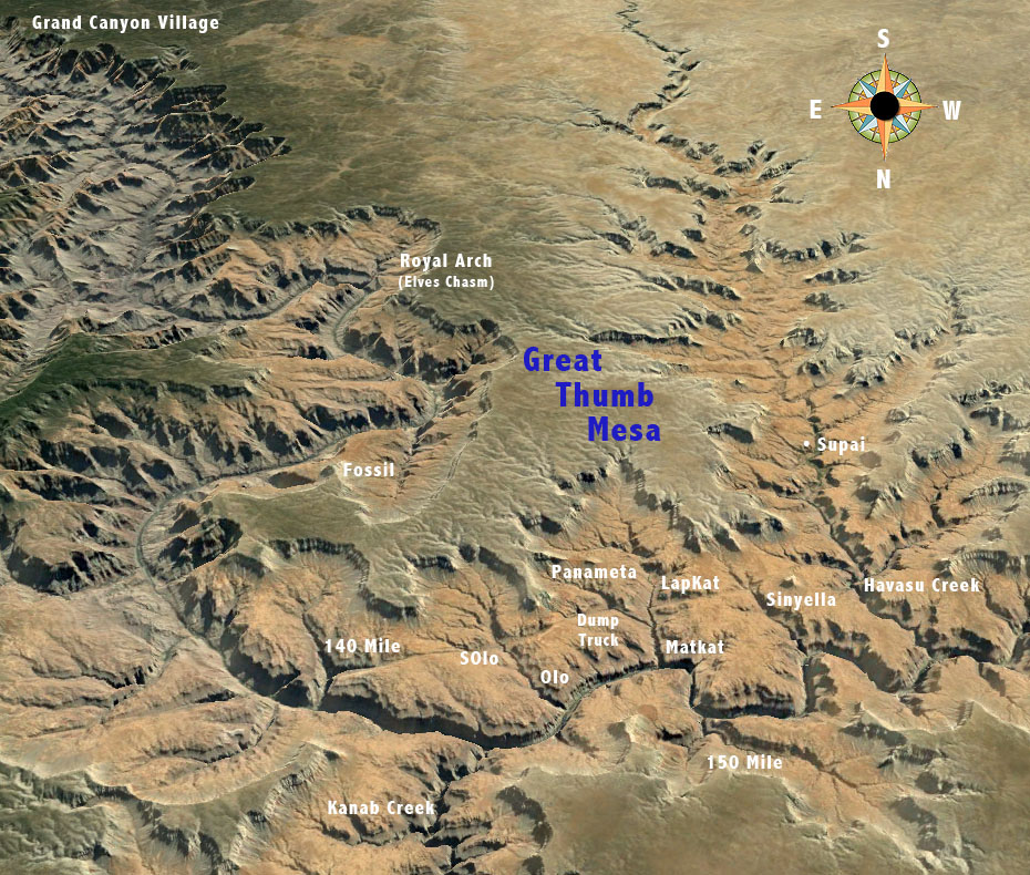great thumb mesa map